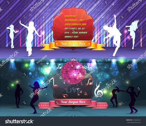 dance party banner background flyer templates stock vector