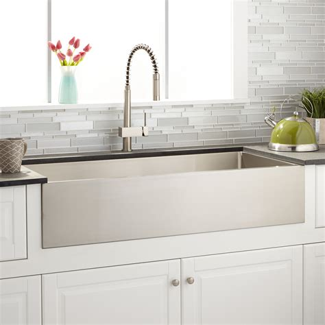 non stainless steel kitchen sinks 42 quot atwood stainless steel farmhouse sink kitchen 7120