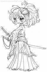 Chibi Coloring Yampuff Deviantart Printable Lineart Musashi Miyamoto Kawaii Coloriage Unicorn Colouring Dessin Disney Manga Adults Colorier Colorir Adult Japon sketch template