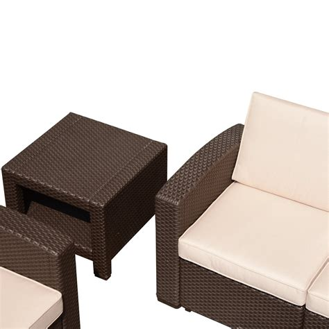 outdoor resin wicker end table outsunny rattan style resin wicker outdoor end table