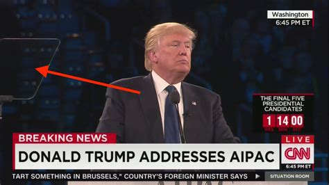 trumps disciplined focused aipac speech shows teleprompters  improve  brand