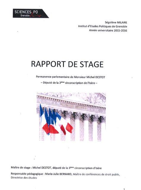 image page de garde rapport de stage