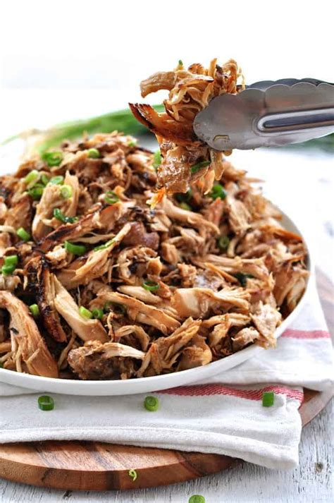 slow cooker crispy chinese shredded chicken recipetin eats