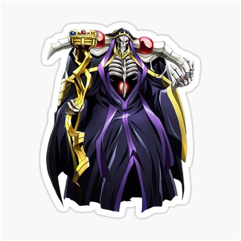 overlord ainz ooal gown stickers redbubble