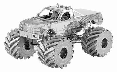 Monster Truck Metal Fascinations Earth Vehicles Kit
