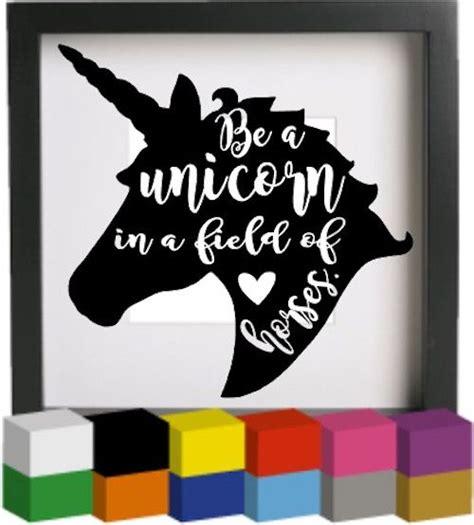 unicorn vinyl glass block photo frame decal sticker