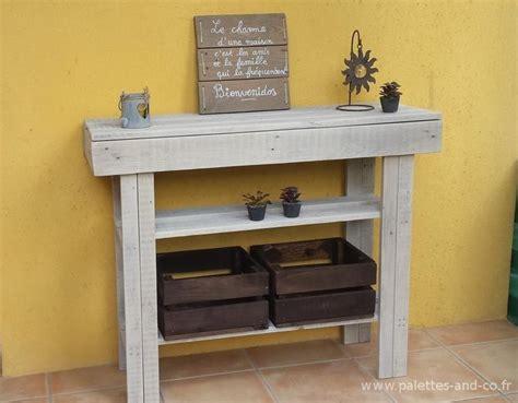 meuble cuisine massif console en bois de palettes meubles palettes and co