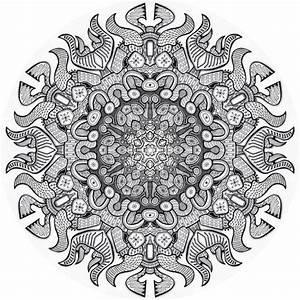 Printable Advanced Coloring Pages Mandala Nature Etc