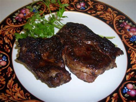 chuck eye steak cast iron grilled chuck eye poor mans rib eye steaks w spicy r recipe food com