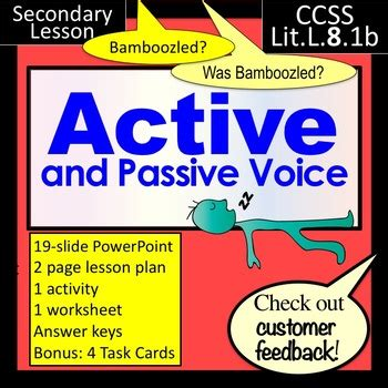active and passive voice lesson powerpoint and more by