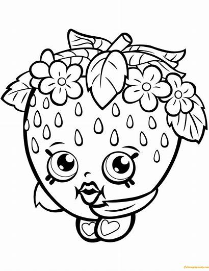 Shopkin Strawberry Kiss Pages Coloring Season