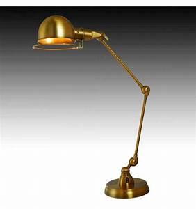 Lampe à Clipser : grande lampe de bureau design or e27 malina ~ Teatrodelosmanantiales.com Idées de Décoration
