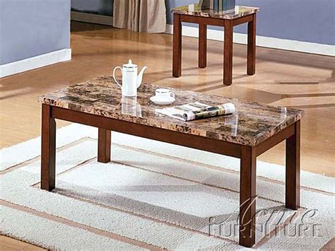 Check out our faux marble coffee table selection for the very best in unique or custom, handmade pieces from our coffee & end tables shops. Portland Brown Faux Marble Wood 3Pc Pack Coffee/End Table | The Classy Home