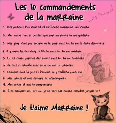 les 10 commandements d une bonne marraine de mwaetmafilleule