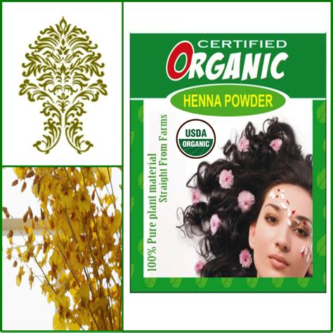 One Box Usda Certified Organic Henna Golden Brown Hair