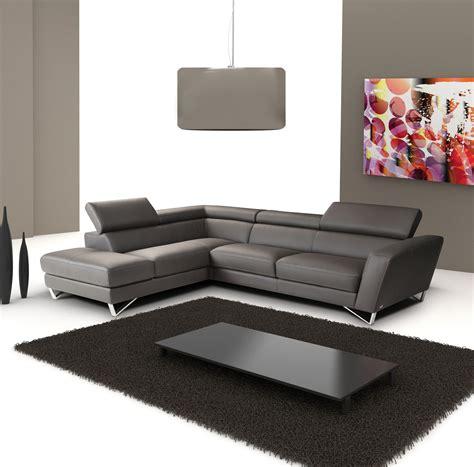 Sparta Italian Leather Modern Sectional Sofa
