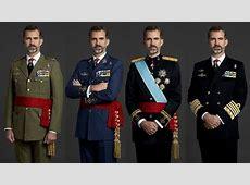 El Rey, retratado con uniforme militar