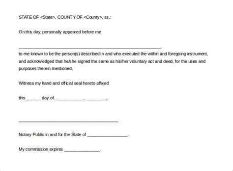 notary public letter template planning template