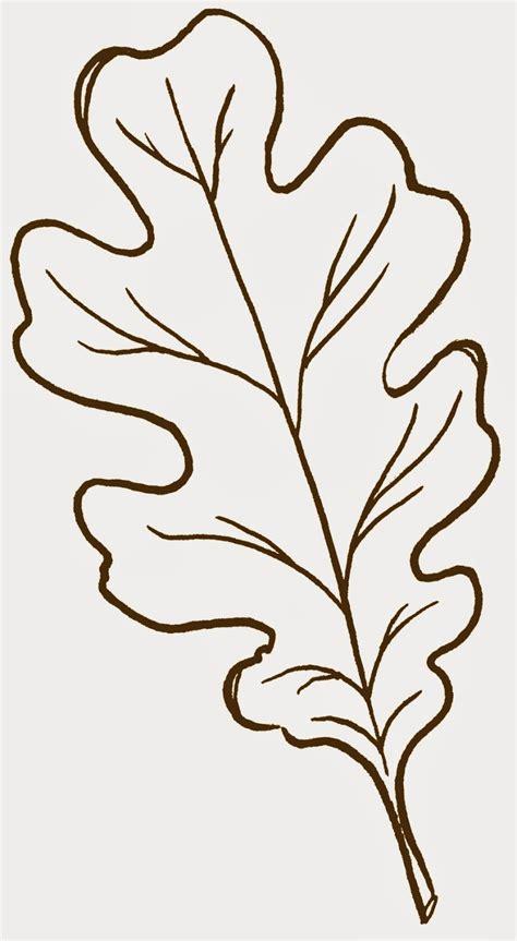 oak leaf stencil printable clipart