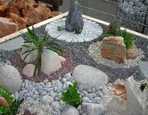 Cailloux Pour Jardin : jardin moderne avec du gravier d coratif galets et plantes ~ Melissatoandfro.com Idées de Décoration