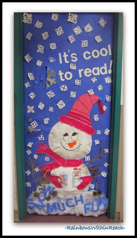 winter themed decorated classroom doors  dec school