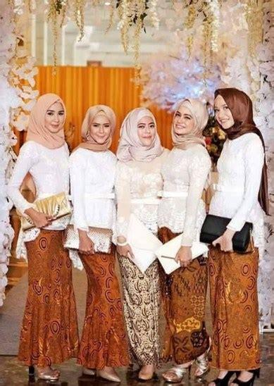 trend baju muslim kebaya modern kombinasi batik