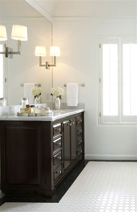 espresso cabinets transitional bathroom ashley