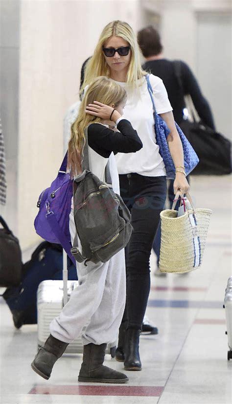 gwyneth paltrow arrives   york   kids