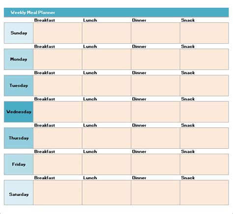 meal plan template meal plan template excel calendar monthly printable