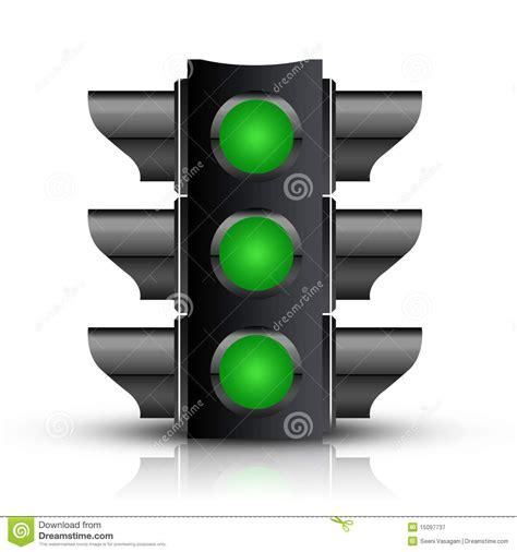light green light all green traffic light stock illustration illustration