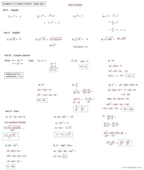 operations of complex numbers worksheet worksheets for all