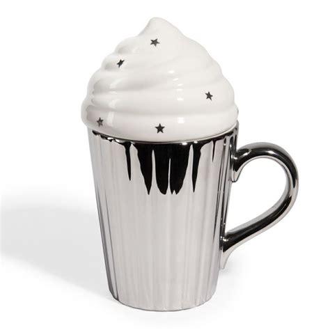 mug argent 233 avec couvercle en forme de glace by maisons du monde mug et tea pot mugs