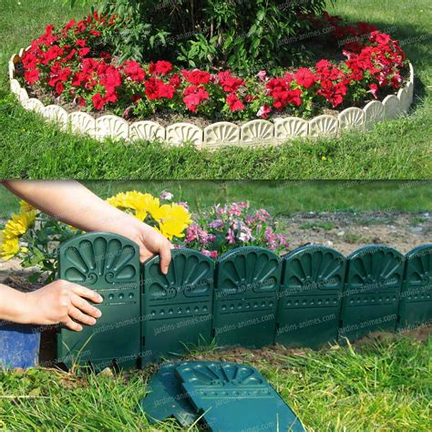 bordures d 233 coratives de jardin en plastique bordure de jardin