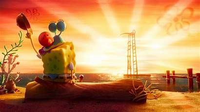 Spongebob Sunset 4k Sponge Run Wallpapers Near