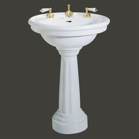 standing pedestal sink white china  widespread bathroom