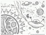Coloring Space Pages Outer Adults Popular sketch template