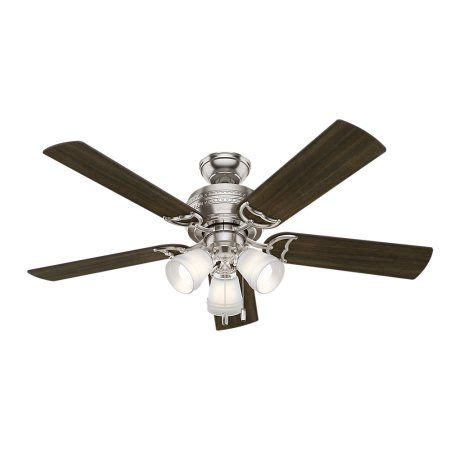 52 inch prim brushed nickel ceiling fan with light silver products brushed nickel
