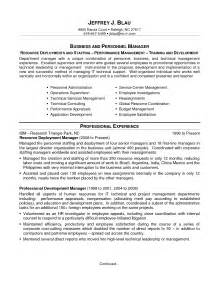 and development manager resume sle