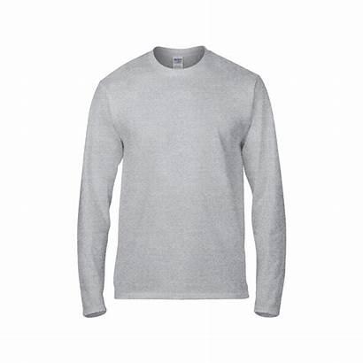 Shirt Sleeve Grey Plain Sport Gildan Premium