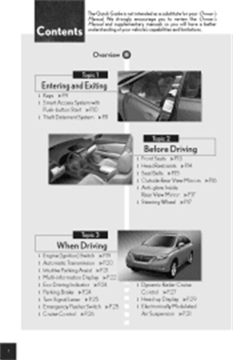 car service manuals pdf 2010 lexus rx navigation system 2010 lexus rx 350 manuals