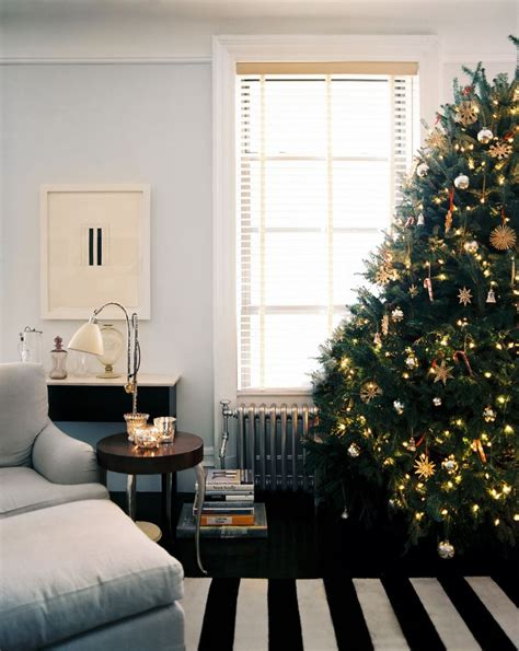 rooms  festive christmas trees