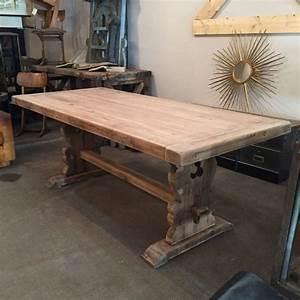 Table Ancienne De Ferme : mobilier industriel ancienne table de ferme en bois ~ Teatrodelosmanantiales.com Idées de Décoration