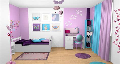 peinture violette pour chambre décoration d 39 intérieur d 39 une chambre de fille à vaux le