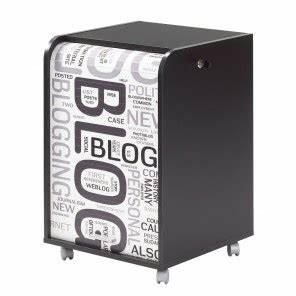 Caisson Bureau Noir : caisson de bureau noir 2 tiroirs beaux meubles pas chers ~ Teatrodelosmanantiales.com Idées de Décoration