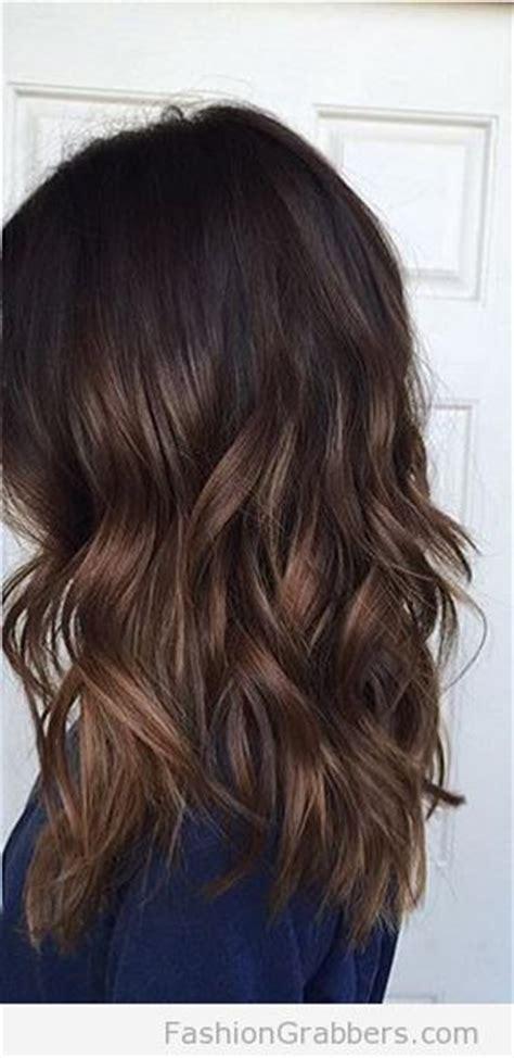 dark roots light ends technique balayage hair color brunette