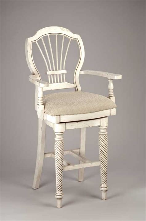 White Wooden Bar Stools With Backs by White Wood Bar Stools Providing Enjoyment In Your Kitchen