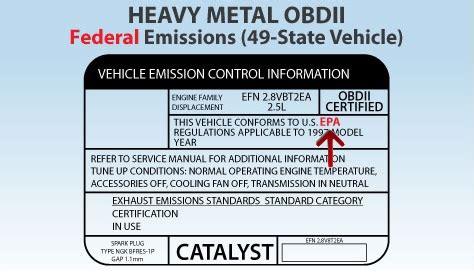nissan cummins engine is your car federal or california emissions