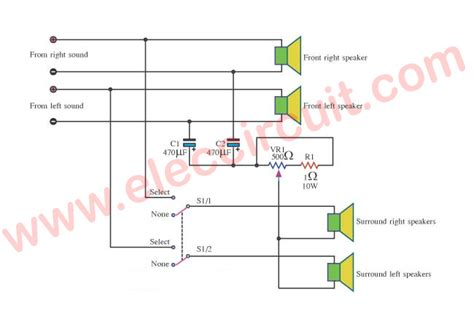 cheap surround sound system circuit diagram electronic