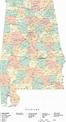 State Map of Alabama in Adobe Illustrator vector format ...