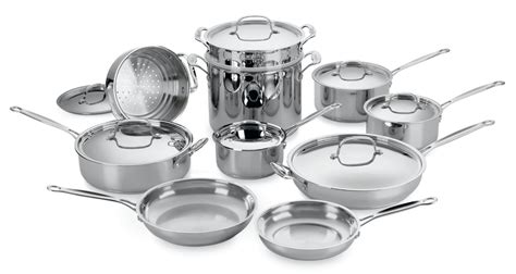 cuisinart chefs classic stainless steel ultimate cookware set  piece cutlery
